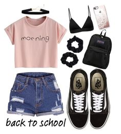 """""""Back to school"""" by citcat03 ❤ liked on Polyvore featuring Vans, JanSport, Vyayama, Casetify and Accessorize"""