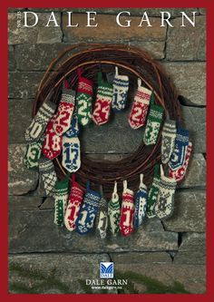 Dale of Norway Christmas knit patterns - including mini knit mitten advent Norway Christmas, Norwegian Christmas, Scandinavian Christmas, Christmas Holidays, Christmas Advent Wreath, Christmas Crafts, Christmas Decorations, Christmas Printables, Handmade Christmas