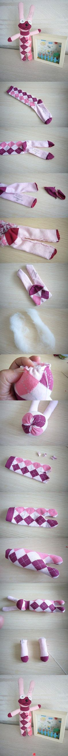Sock bunny. Only picture instructions