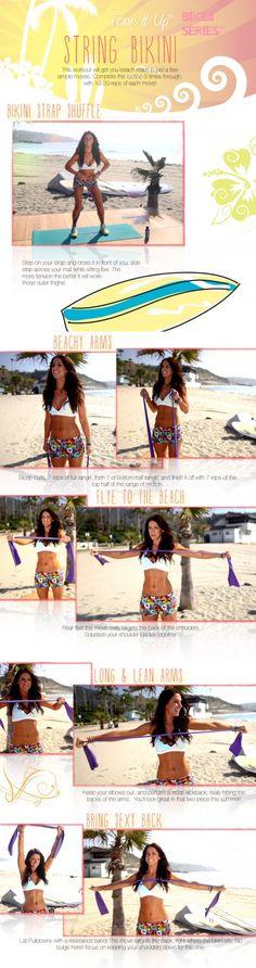 Tone It Up! Blog - Your NEW ☀Thursday Workout ~ Surprise! It's your String Bikini Workout with Karena :) www.tonetiup.com