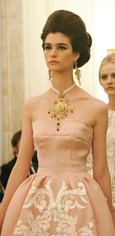 Dolce & Gabbana Alta Moda S/S 2013 Couture, they have the right idea hair+make up wise!  #TopshopPromQueen