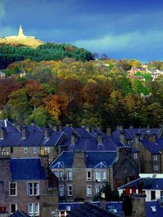 Dundee, Scotland...law hill in the background..