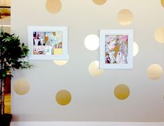 Use gold contact paper to add some pizzazz to any room.
