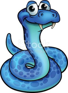 Cute cartoon snake cartoon character
