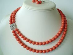 Two Strand Swarovski  Coral Pearl with by delicatecreationsbym, $34.00