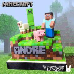 Awesome Minecraft cake