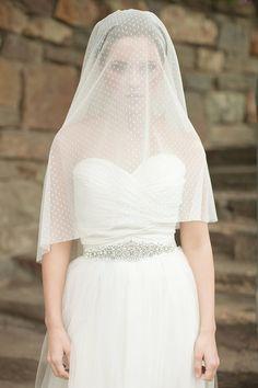 Wedding Veil, Dotted Circle Veil, Drop Veil, Bridal Veil, Swiss Dot Veil - MADE TO ORDER on Etsy, $185.00  Bridal Veils || Aisle Perfect