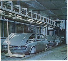 Alfasud & Alfasud Sprint assembly line at Pomigliano d'Arco