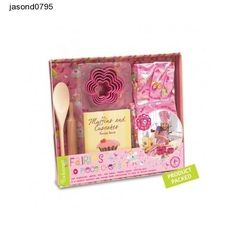 Girls Chef Set Cooking 10 Piece Pink Fairy Theme Gift Cook Princess Fun Bake Kit