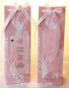 Geschenkstüten rosa für Liköre und Schnäpse im Krautgartl StampinUP Aigenmade 1