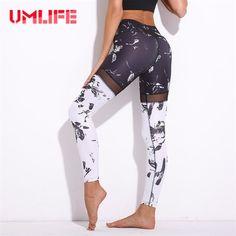 UMLIFE Women Sexy Yoga Pants Printed Floral Sport (1) #yogapants #yogapant #yogaleggings #yogalegging