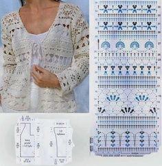 Sent from my BlackBerry Crochet sampler jacket Gilet Crochet, Crochet Coat, Crochet Jacket, Crochet Cardigan, Crochet Clothes, Crochet Diagram, Crochet Motif, Diy Couture, Crochet Stitches Patterns