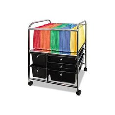 Advantus 5-Drawer Storage File Cart