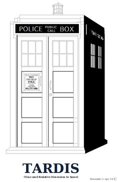 dr. who coloring pages | Tardis outline or Coloring Page Shaded Ver. by ~Ryuuzaki-L-spy-19 on ...