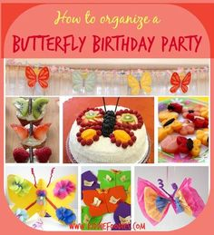 How to organize a butterfly birthday party, #butterflyparty, #butterflybirthdayideas Butterfly Birthday Cakes, Butterfly Garden Party, Butterfly Birthday Party, Rainbow Butterfly, 6th Birthday Parties, Birthday Fun, Birthday Ideas, Party Mottos, Holiday Parties