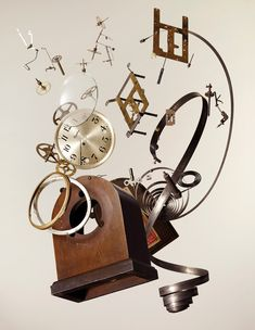 Apart Wind-Up Clock by Todd McLellan - 20x200 (from $60)