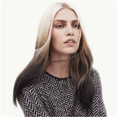 Blonde to black ombre hair color. I'd love to do the inverse with my hair.