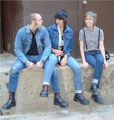 more skinhead love… Skinhead Girl, Skinhead Fashion, Dr. Martens, Punk Rock Girls, Ska Punk, Punk Jackets, Punks Not Dead, Expensive Clothes, Rude Boy