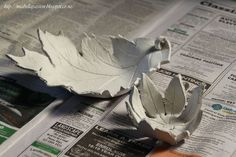 Handcrafted Air Dry Clay Leaf Bowls...