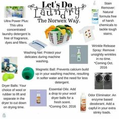 I love my Norwex UPP detergent, stain remover, and wool dryer balls! I also love to put some lavendar essential oils on my wool dryer balls every now and then!   Order anytime: http://www.kimaycock.norwex.biz