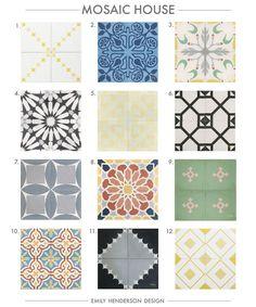 Cement Tile RoundUp Mosaic House Patterned Tiles Emily Henderson copy