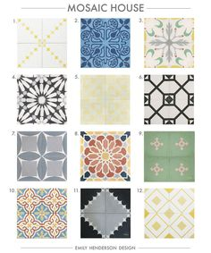 Cement Tile RoundUp Mosaic House Patterned Tiles Emily Henderson copy