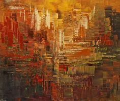 large abstract painting by Tatiana Iliina, palette knife, Arizona Architect