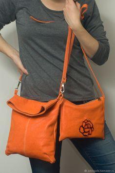 Jukova Julia Tangerine Dream set bag Оранжевая сумка, комплект сумок, парные вещи – купить в интернет-магазине на Ярмарке Мастеров с доставкой
