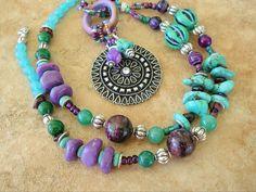 Boho Necklace Southwest Jewelry Bohemian Jewelry por BohoStyleMe, $98.00