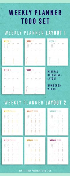 Sometimes I just want to keep the planning simple. Love to use these minimal weekly planner printables to keep on top of stuff without getting overwhelmed
