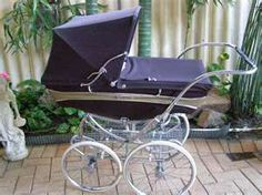 English Pram. I had the Silver Stream, same color. The interior sides were white leather, rolled and tucked.