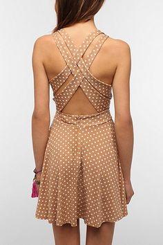 Pins and Needles Strappy Back Circle Dress