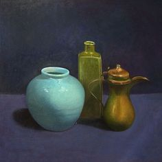Buy Still Life - Copper Pot & Blue Vase, Oil painting by Morag Miller on Artfinder. Discover thousands of other original paintings, prints, sculptures and photography from independent artists.