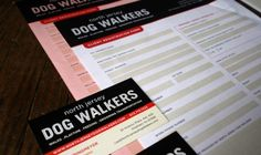 North Jersey Dog Walkers printed collateral design and layout. 1331design.com.