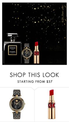 """""""Untitled #334"""" by queenmelani ❤ liked on Polyvore featuring Versace and Yves Saint Laurent"""