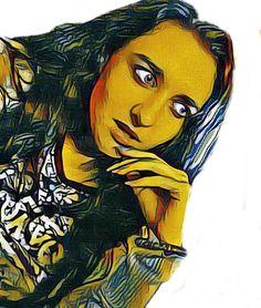 Yustina. Spase girl. Art.