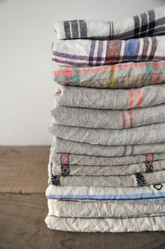 Patterned linen #laundry.