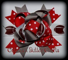 Ohio State Inspired Boutique mix and match hair bow