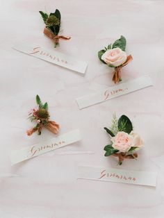 Floral Design : Everly Alaine Florals | Invitations : Seniman Calligraphy Read More on SMP: http://www.stylemepretty.com/2016/01/01/pantone-rose-quartz-bridal-inspiration-shoot/