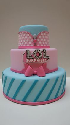 Funny Birthday Cakes, 6th Birthday Parties, Torta Angel, Bolo Fack, Lol Doll Cake, Surprise Cake, Doll Party, Lol Dolls, Party Cakes