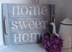 HOME SWEET HOME. Bandeja diseñada y realizada por Saulam Chic. + info: http://wp.me/p3j0Sm-ub