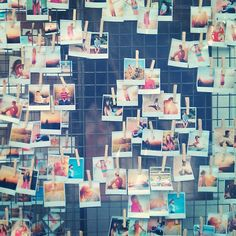 A great bit of visual merchandising in Manchester city centre. We love it! #prints #polaroids #manchester #shops #display #installations #windowdisplay