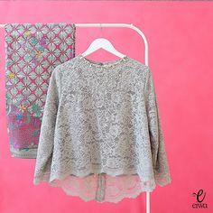 Grey Lace Modern Kabaya Size XXL Front Length : Back Length : Sleeve Length : Full Lining Kebaya Muslim, Kebaya Hijab, Kebaya Brokat, Kebaya Lace, Kebaya Dress, Batik Kebaya, Batik Fashion, Hijab Fashion, Fashion Outfits