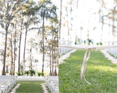 Outdoor alter with cross  | Amy and Mikes Lakeside wedding | www.AmalieOrrangePhotography.com
