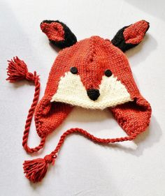 Red Fox Hat for Kids  Fully Lined and Super by KeepEmNStitches