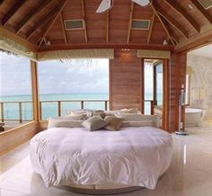 Bedroom by the sea.