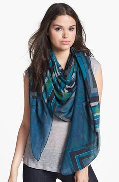 Jimmy Choo Graphic Wool & Silk Scarf available at #Nordstrom