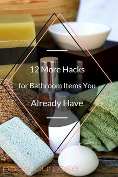 12 Everyday Hacks For Using Bathroom Items You Already Have - everything from magic erasers to empty pill bottles