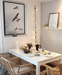 43 Inspiring Dining Room Tables Modern Design Ideas – Page 2 of 43 - Luxury Table Dining Table Lighting, Furniture Dining Table, Dining Room Table, Wooden Furniture, White Armchair, Rattan Armchair, Tapetes Vintage, Living Pequeños, Living Room