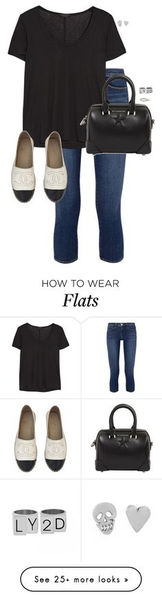 """Untitled #11846"" by alexsrogers on Polyvore featuring L'Agence, The Row, Chanel, Givenchy and Monica Vinader"